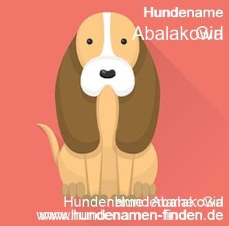 Hundename Abalakowa - Hundenamen finden