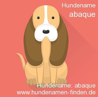 Hundename Abaque - Hundenamen finden
