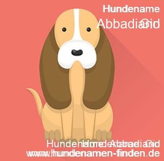 Hundename Abbadiano - Hundenamen finden