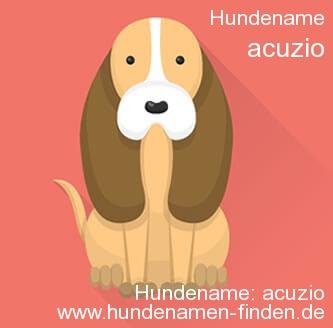 Hundename Acuzio - Hundenamen finden