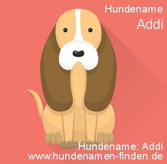 Hundename Addi - Hundenamen finden