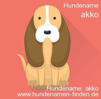 Hundename Akko - Hundenamen finden