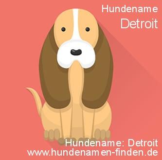 Hundename Detroit - Hundenamen finden