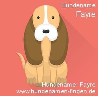 Hundename Fayre - Hundenamen finden