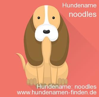Hundename Noodles - Hundenamen finden
