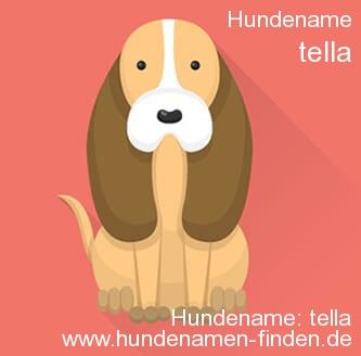 Hundename Tella - Hundenamen finden