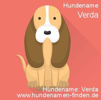 Hundename Verda - Hundenamen finden