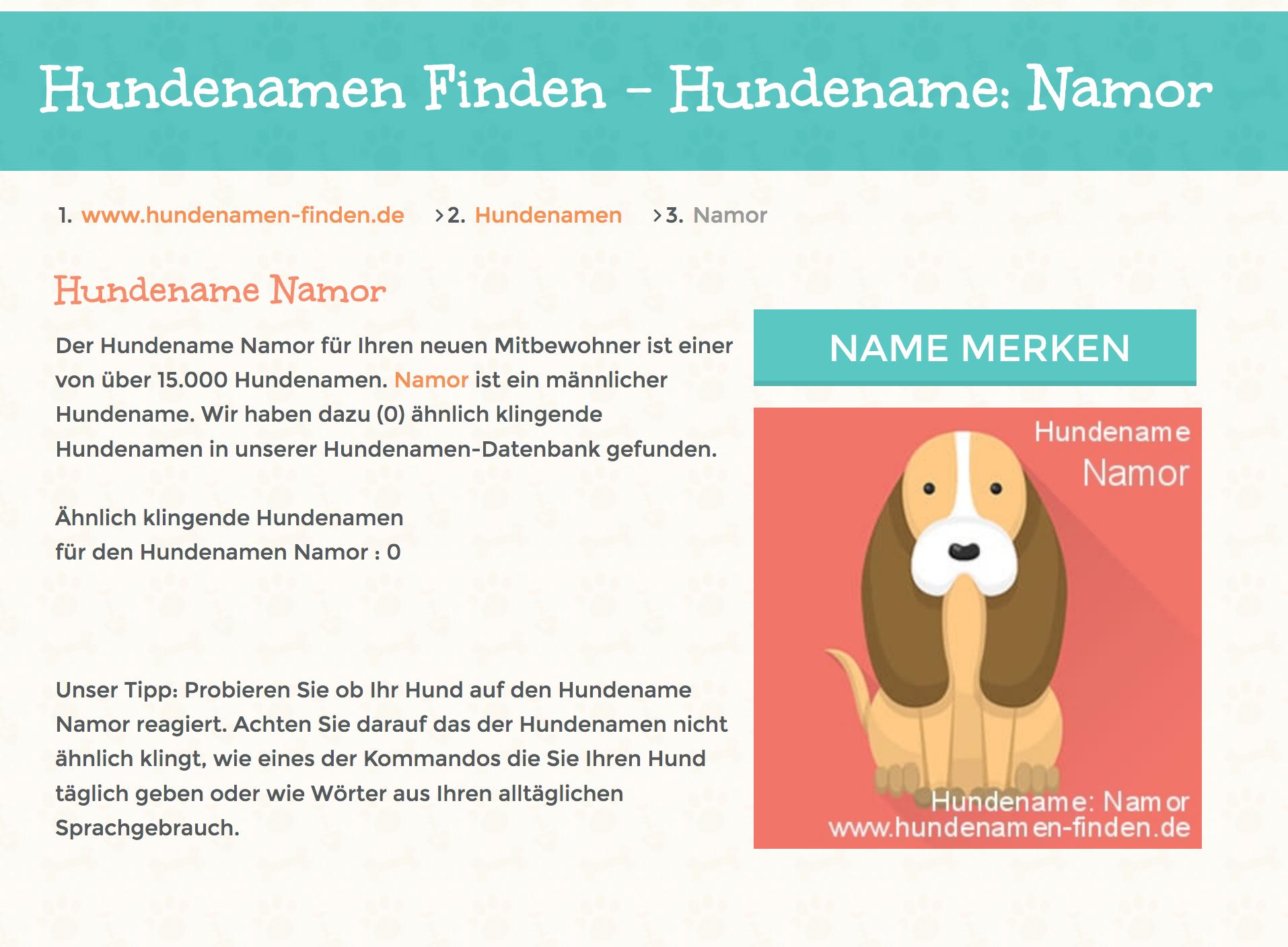 Hundenamen und Hunderassen große Hundenamen-Datenbank